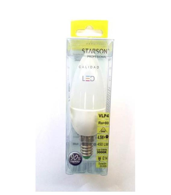 LAMPARA LED VELA E27 4,5W 450LM 6400K