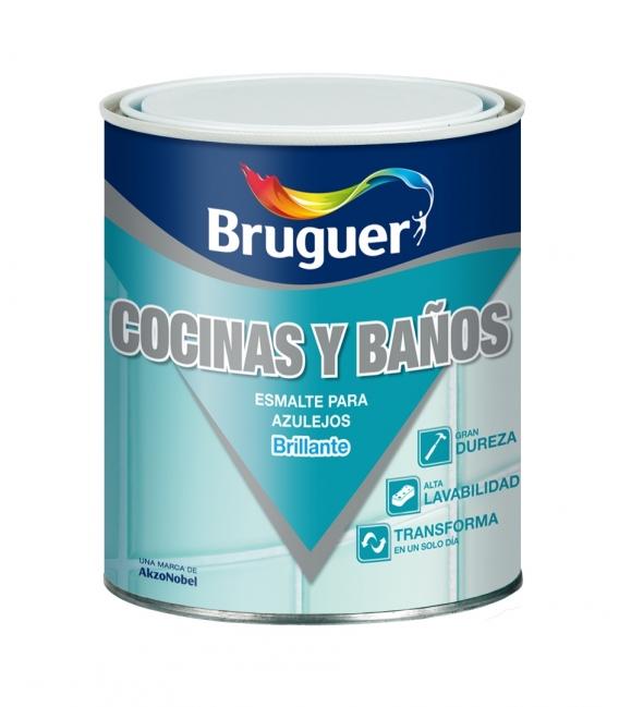 Esmalte sintético 750ML blanco harina BRUGUER