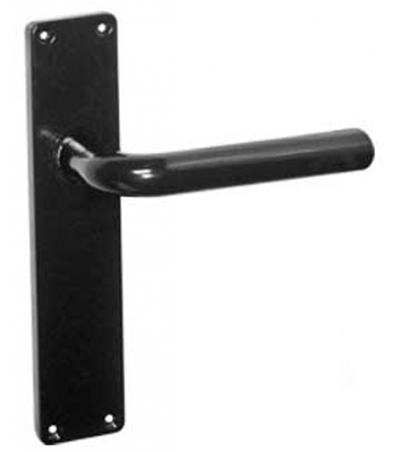 Manivela Puerta 1987-75 Aluminio Negro Placa Larga. OCARIZ