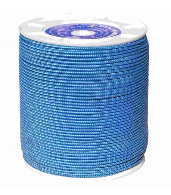 Cuerda trenzada doble blanca y azul VIVAHOGAR