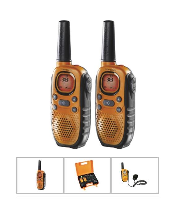 Walkie Talkie Vigilancia Carga Batería 8C 10Km Alc  2 Pz.  TOPCOM