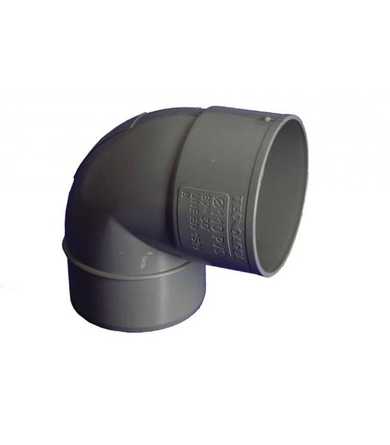 CODO EVAC M-H 87º 075MMØ PVC