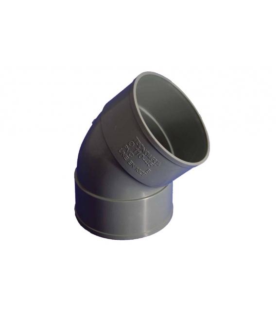 CODO EVAC H-H 45º PVC