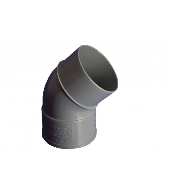 CODO EVAC M-H 45º 110MMØ PVC