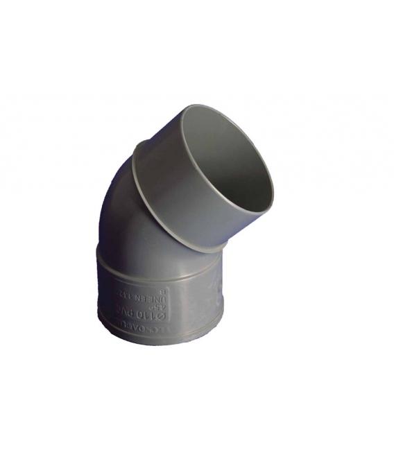 CODO EVAC M-H 45º 200MMØ PVC