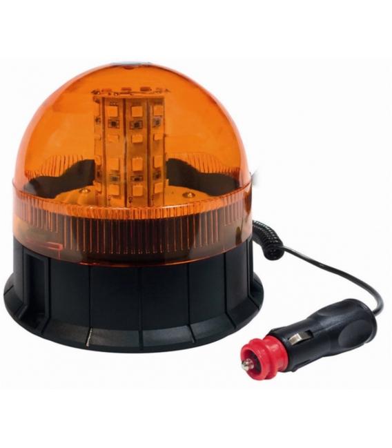 Luz giratoria magnética ventosa 12 24V. TECNOCEM