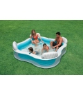 Piscina familiar con asientos. INTEX