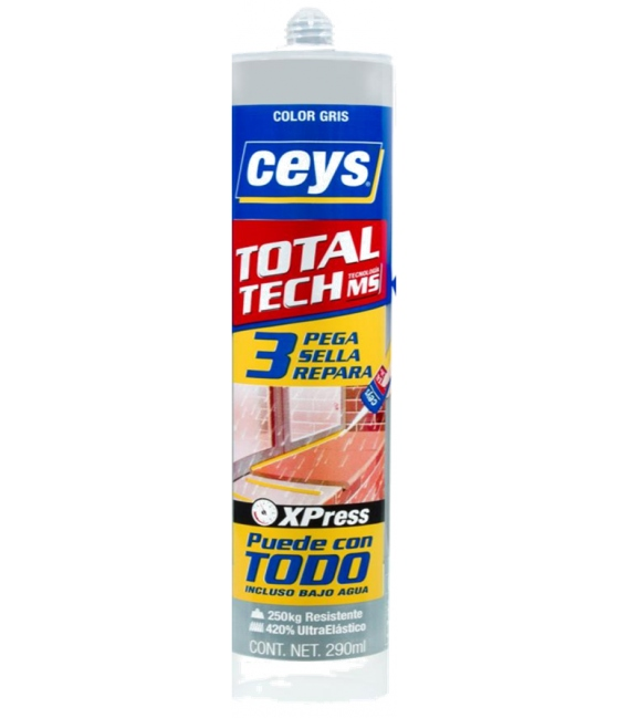 Adhesivo sellador 290ml gris CEYS Total Tech