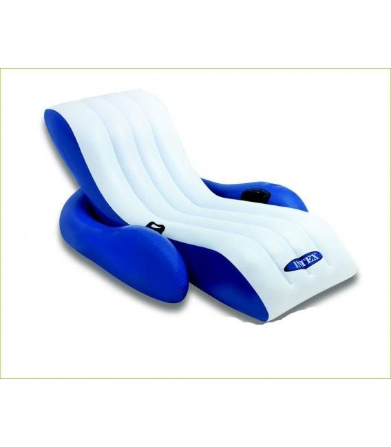 Tumbona hinchable reclinable