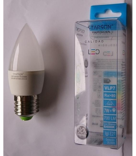 LAMPARA LED VELA E27 7W 700LM 6400K