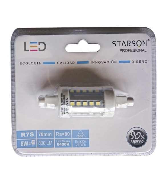 LAMPARA LED LINEAL 78MM 8W 800LM 6400K