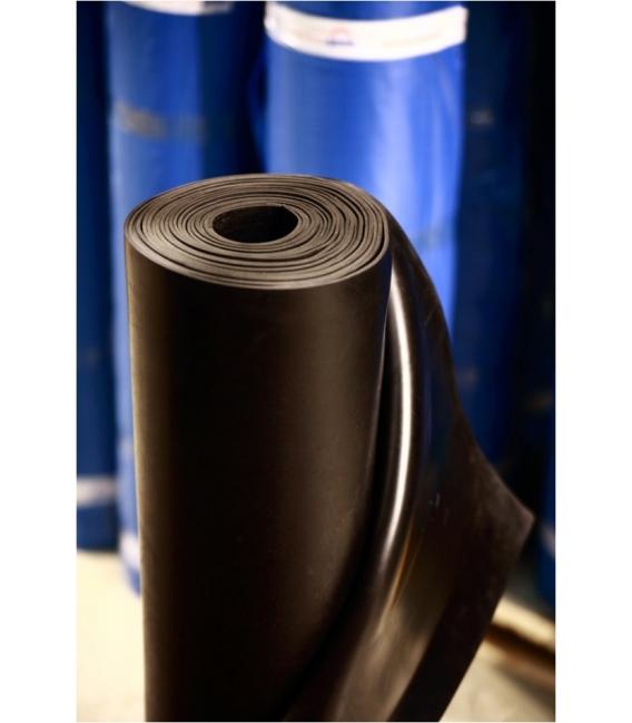 Pavimento suelo liso 1mtX10mtX5mm Negro. TECNOGOMA
