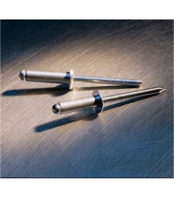 Remache estandar 5,0x12mm aluminio 500Piezas GESIPA