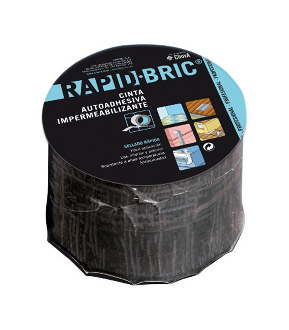 Cinta adhesiva teja 0,16Mt x 12mm RAPID BRIC