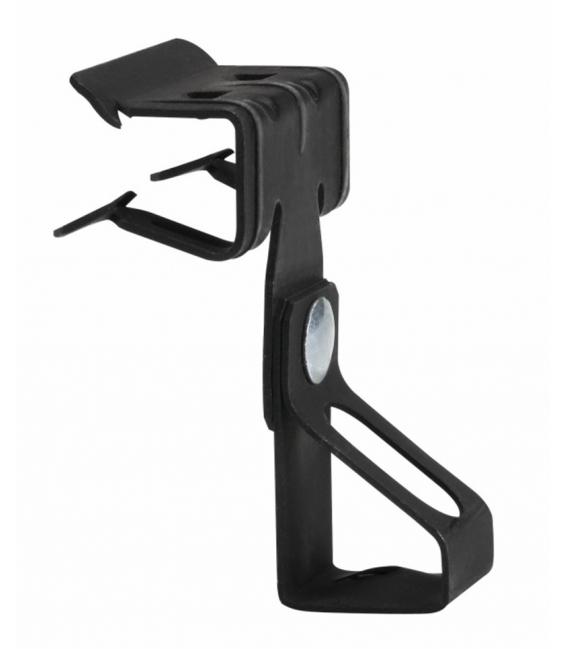 Clip varilla M6 espesor 1,5-4mm x ancho 11mm, fosfatado negro. INDEX
