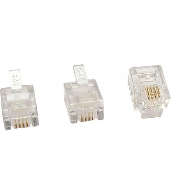 CONECTOR RJ11 6P 4C MOD. 3 PZ