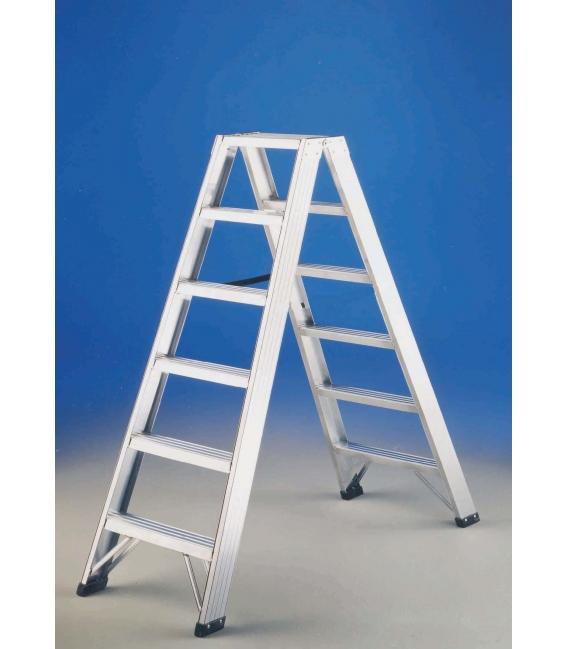 Escalera tijera aluminio 2,10mts SVELT