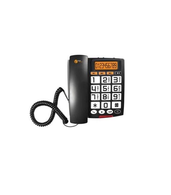 Teléfono de teclas grandes - Sologic A801 Altavoz - Display LCD extra grande