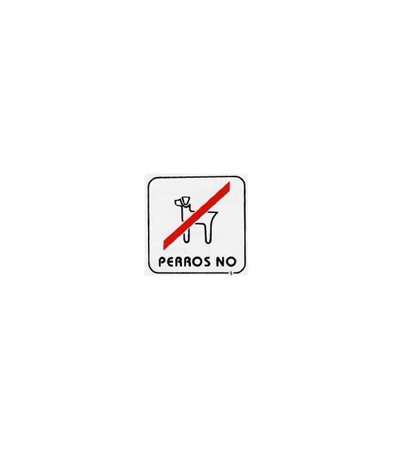 PLACA AUTOADHESIVO PERROS NO 110X110MM