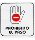 PLACA ADH PROH.PASO 110X110MM