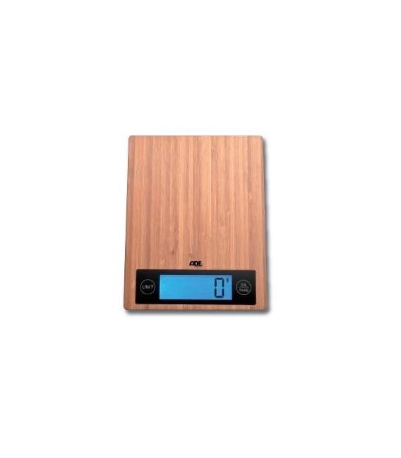 Balanza Digital Cocina 5 Kg Superficie Bambu