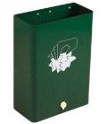 Papelera residuos Nº1 verde oscuro. BTV