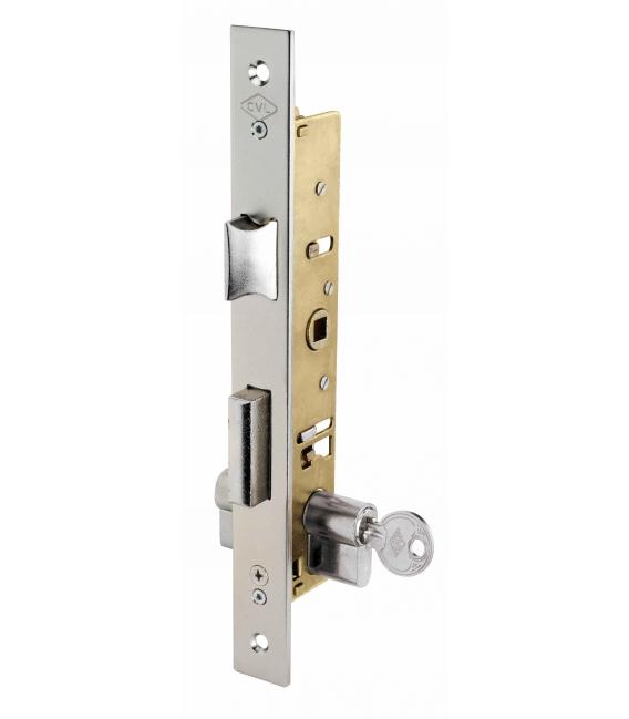 Cerradura metálica embutir picaporte palanca 25X25MM. CVL