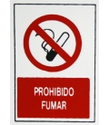 PLACA ADH PROHIBIDO FUMAR 300X200X1MM