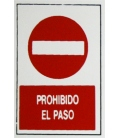 PLACA ADH PROH.PASO 300X200X1MM