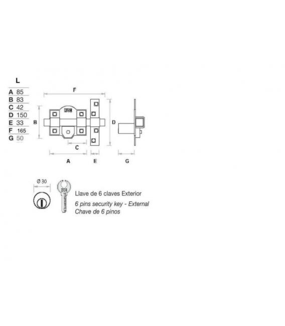 Cerrojos FAC UVE 946 L/80 Anti-Bumping