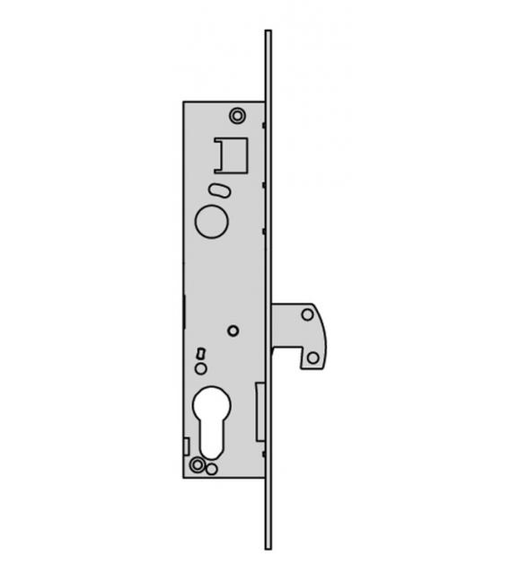 Cerradura madera embutir 25x20mm CISA