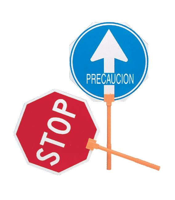 PALETA SEÑAL STOP-PASO