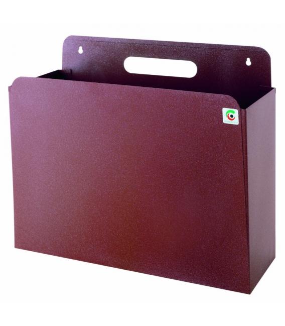 Papelera residuos 35X29X13,5cm metal marrón. CILINDRO