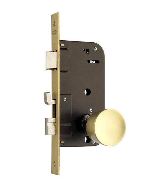 Cerradura Madera Embutir 23x50mm 48E Latón Canto Cuadrado. YALE