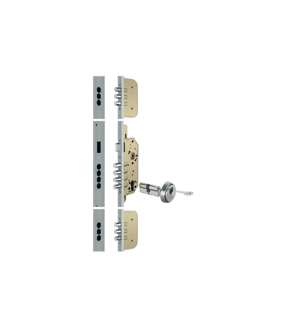 Cerradura de seguridad 50mm plata OCARIZ