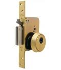 Cerradura de seguridad monopunto R201B, entrada 50 mm, Latonado. TESA