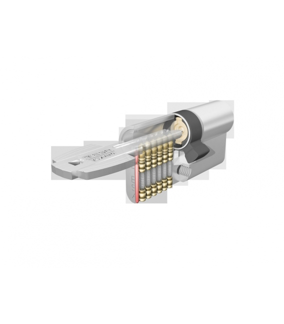 Cilindro de seguridad 30x30mm T6553030L latón. TESA