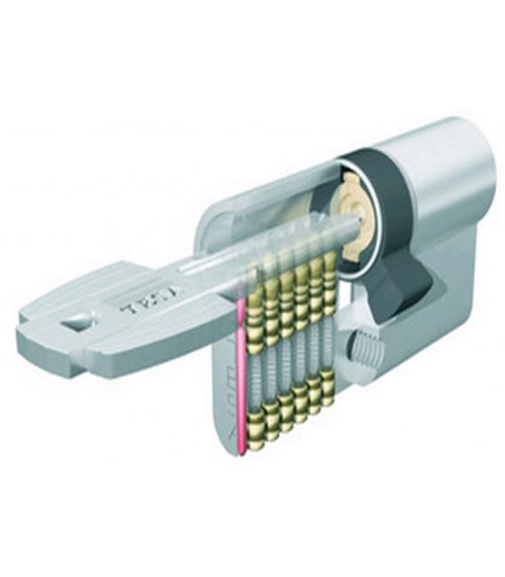 Cilindro Seguridad 30x30mm M6503030N Níquel Leva Corta. TESA