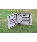 Mesa plegable plástico/acero NATUUR&CO