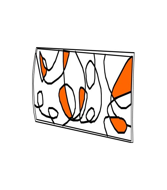PLAFON RECT SUP. 30x30  E27 2x60W NAR
