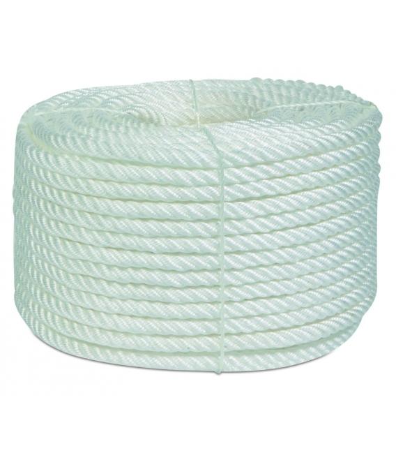 Cuerda torcida 16mm blanca 100mts HYC