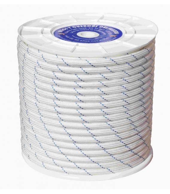 Cuerda trenzada doble 12mm polipropileno Blanco/azul 100 MT. HYC