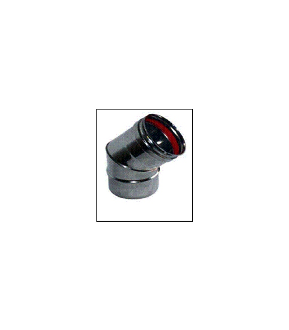 CODO T ESTUFA 45º 080 CM INOX