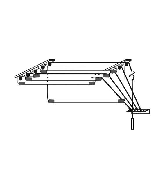 Tendedero de techo EPOXI. Cuerdas independientes