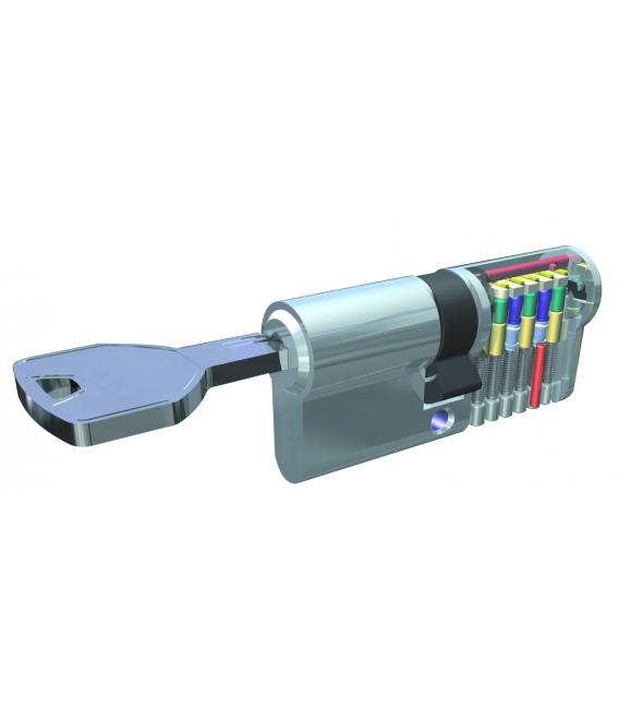 Cilindro seguridad 30x30mm 2000t200lp60 Laton Leva larga. UCEM