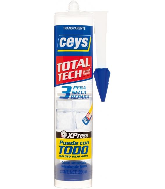 Adhesivo sellador 290ml Transparente CEYS Total Tech