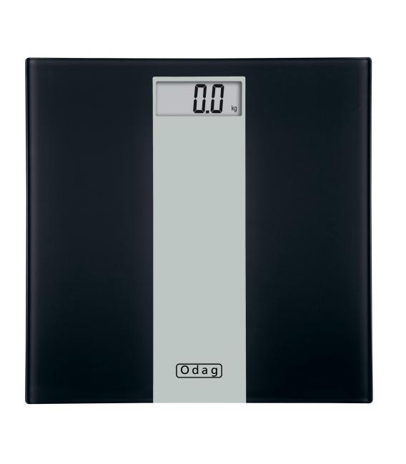 BASCULA ELECTR. 150KG NEGRO ODAG 1038