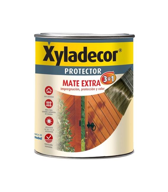 Protector madera Extra 3 en 1 nogal Mate 2,5 lt. XYLADECOR