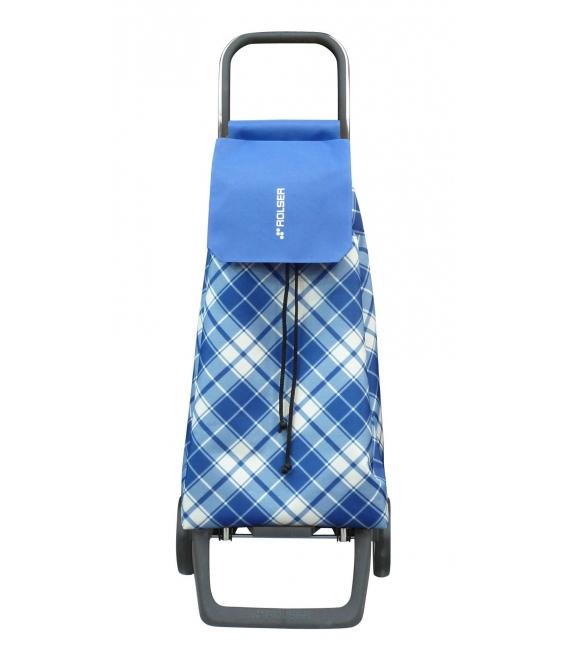 Carro Compra 2 Ruedas 45LT Cuadrados Azul JET017 ROLSER