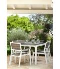 Mesa jardín 16xX94cm  Aluminio  Madera. CURVER
